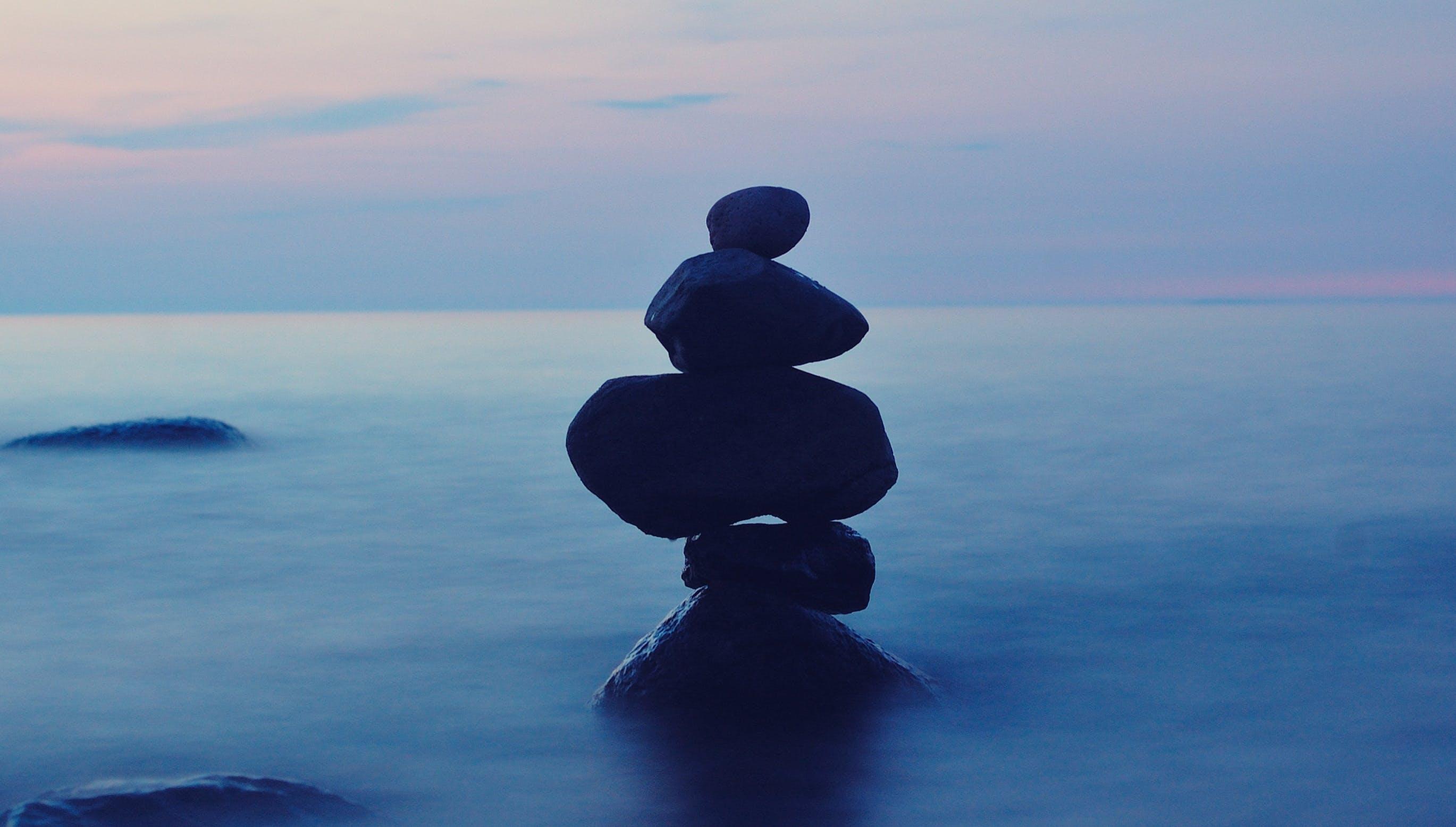 balance, ocean, relaxation