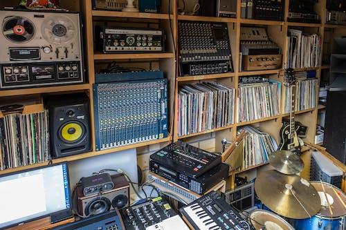 Foto d'estoc gratuïta de equip musical, estudi, estudi de música, sistema de so