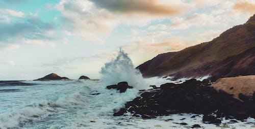 Free stock photo of beach, brazil, clouds, crash