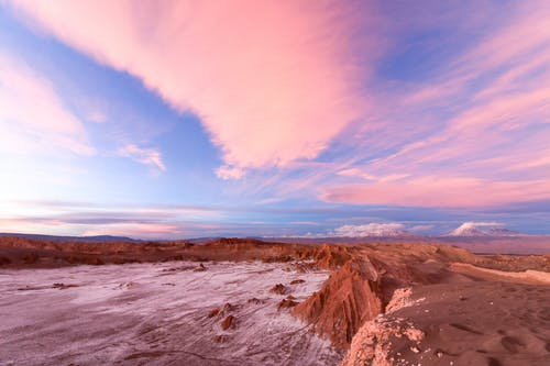 Scenic Photo of Desert Under Purple Sky