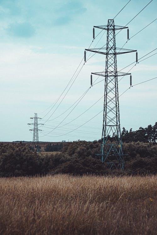 Darmowe zdjęcie z galerii z elektryczność, elektryczny, elektryczny pylon, kabel