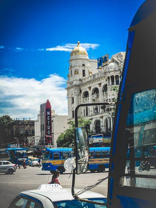 Free stock photo of blue sky, bus, sky blue