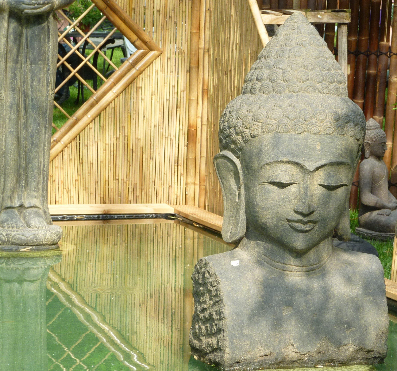 Free stock photo of pond, head, statue, yoga