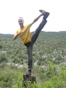 Free stock photo of man, mountain, exercise, yoga