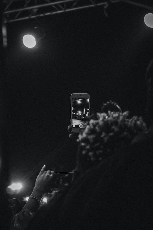 Free stock photo of black, black and white, bracelet, cell phone