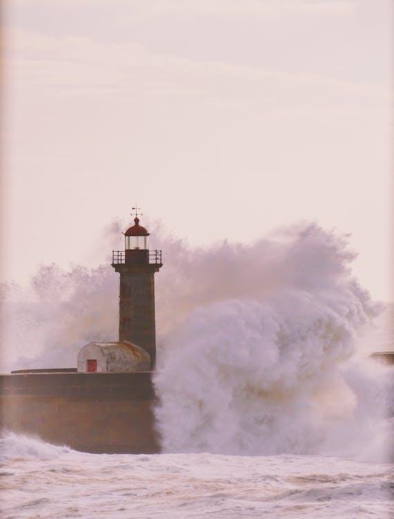 маяк, море, океан