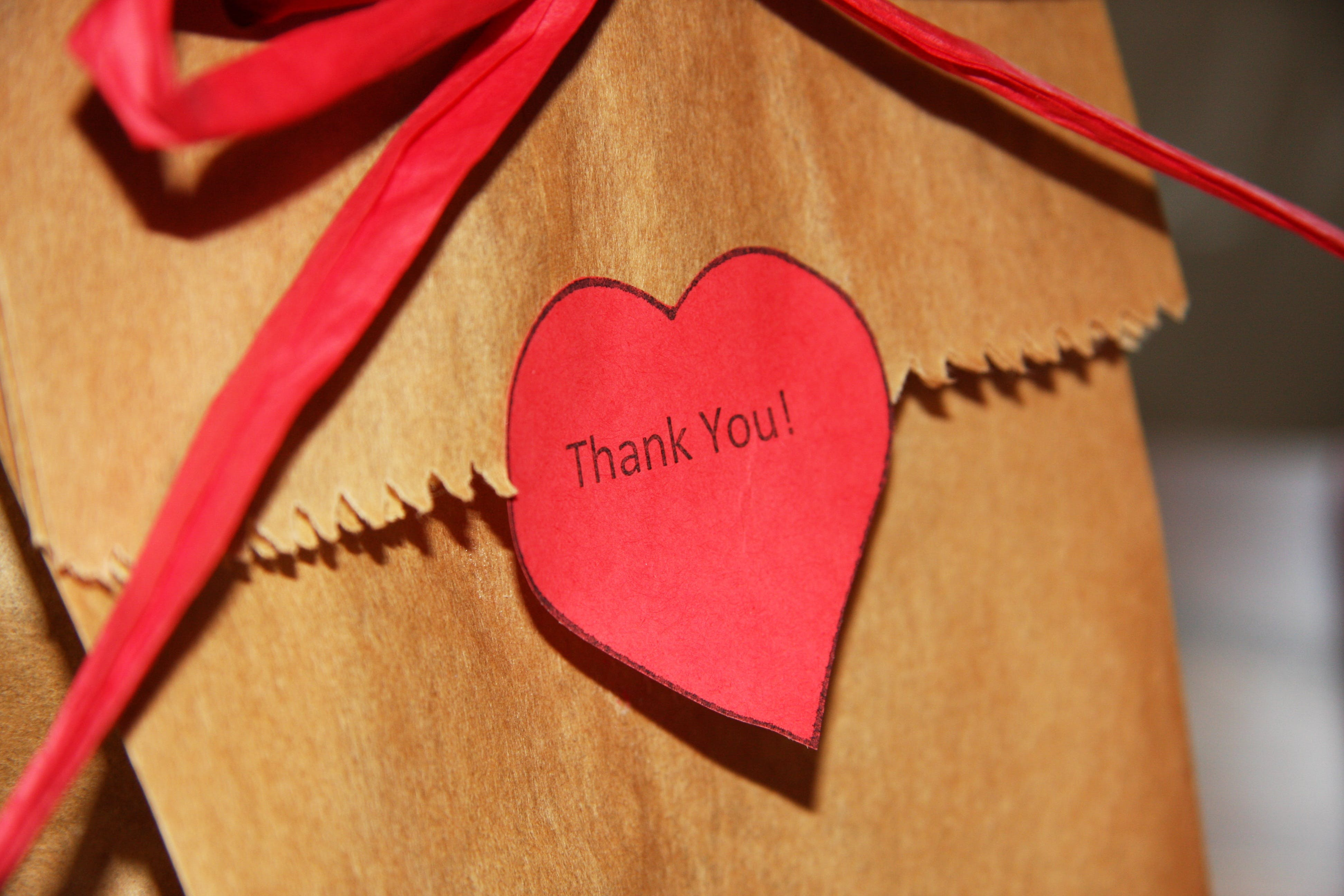 Brown Paper Bag With Thank You Text Overlay