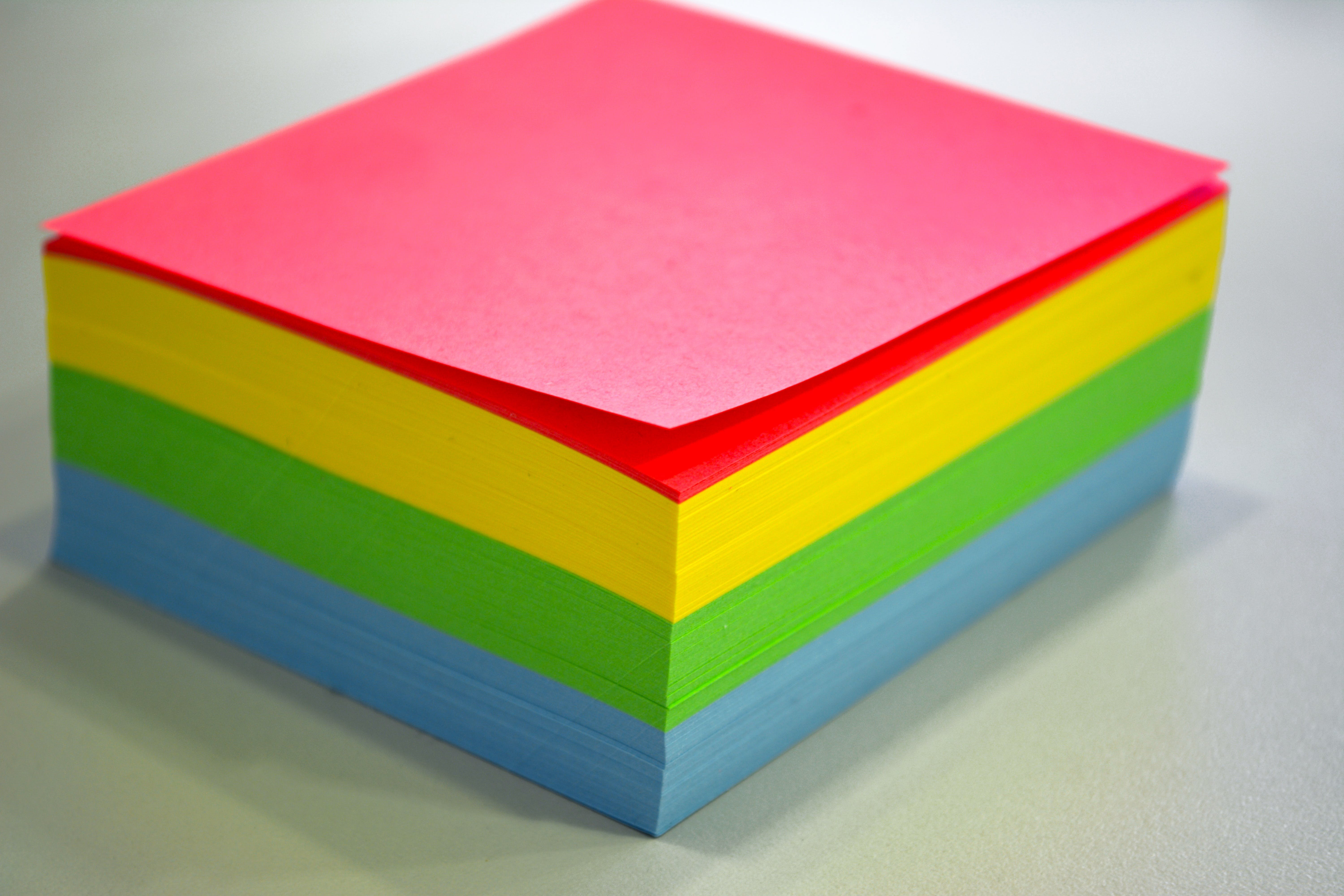 Red, Yellow, Green,and Blue Sticky Notes