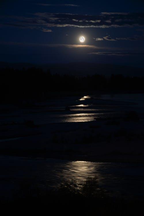 Ilmainen kuvapankkikuva tunnisteilla bitterroot-kuu, kuu, Montana, täysikuu