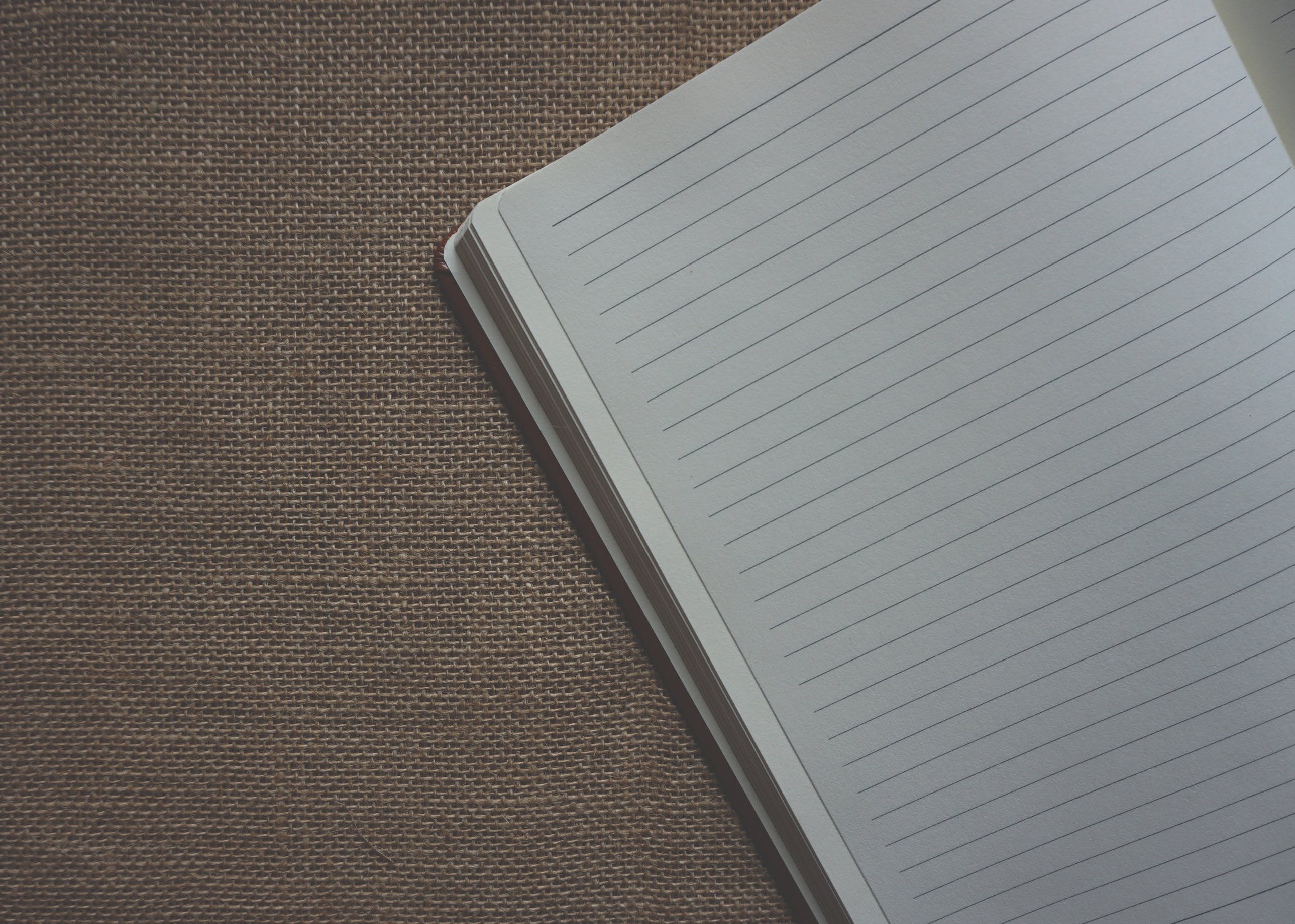Black Lined Paper on Gray Cloth