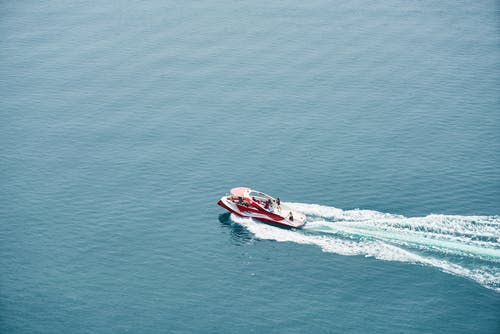 Bird's Eye View Of Boat During Daytime