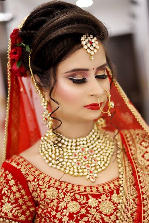 Free stock photo of beauty, bridal, makeup