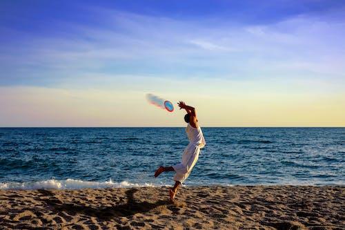 Fotobanka sbezplatnými fotkami na tému breh, cestovať, frisbee, horizont