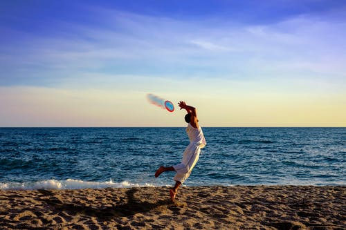 Fotos de stock gratuitas de agua, arena, disco volador, divertido