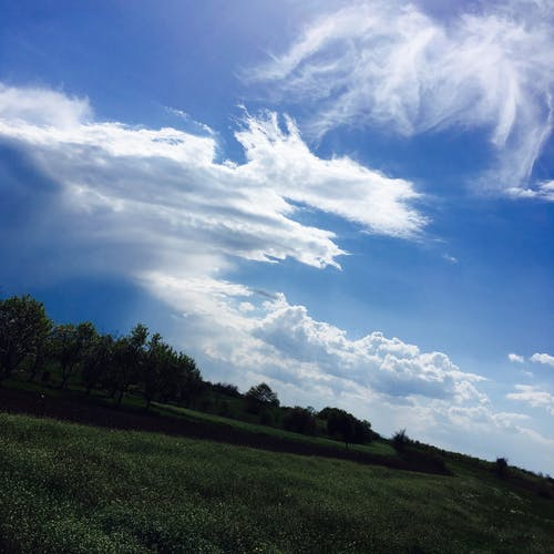 Imagine de stoc gratuită din alb, albastru, cer, cer albastru