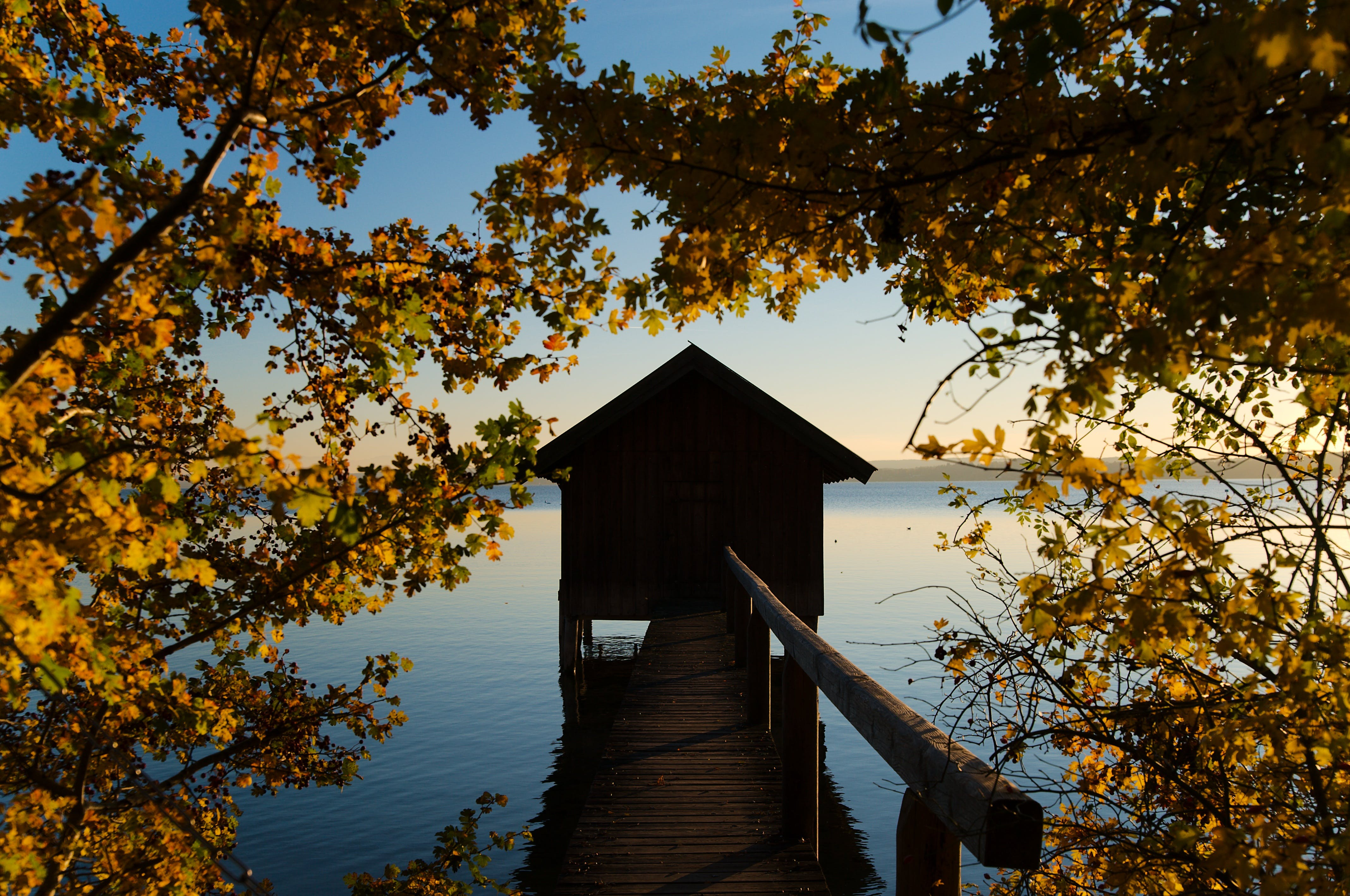 Free stock photo of ammersee, atmospheric, autumn, evening sky