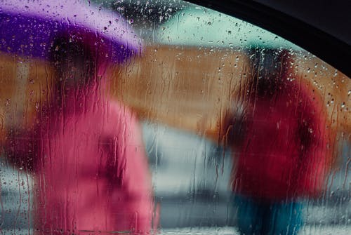 Free stock photo of car window, focus stacking, raindrops