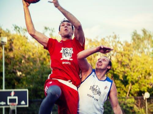 篮球圈, 篮球运动员, 籃子, 籃球 的 免费素材照片