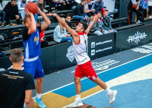 动作能量, 篮球圈, 篮球运动员, 籃子 的 免费素材照片