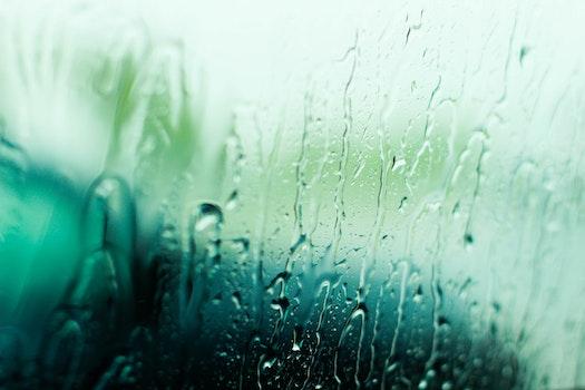 Free stock photo of storm, glass, blur, rain