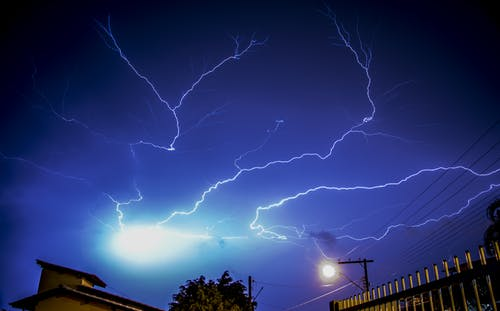 Low Angle Photography of Lightning