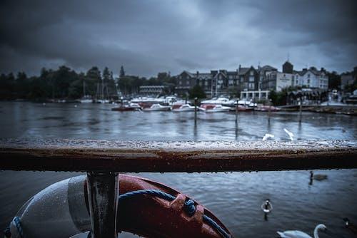 Fotobanka sbezplatnými fotkami na tému dok, krajina, krajina pri mori, kvapky dažďa