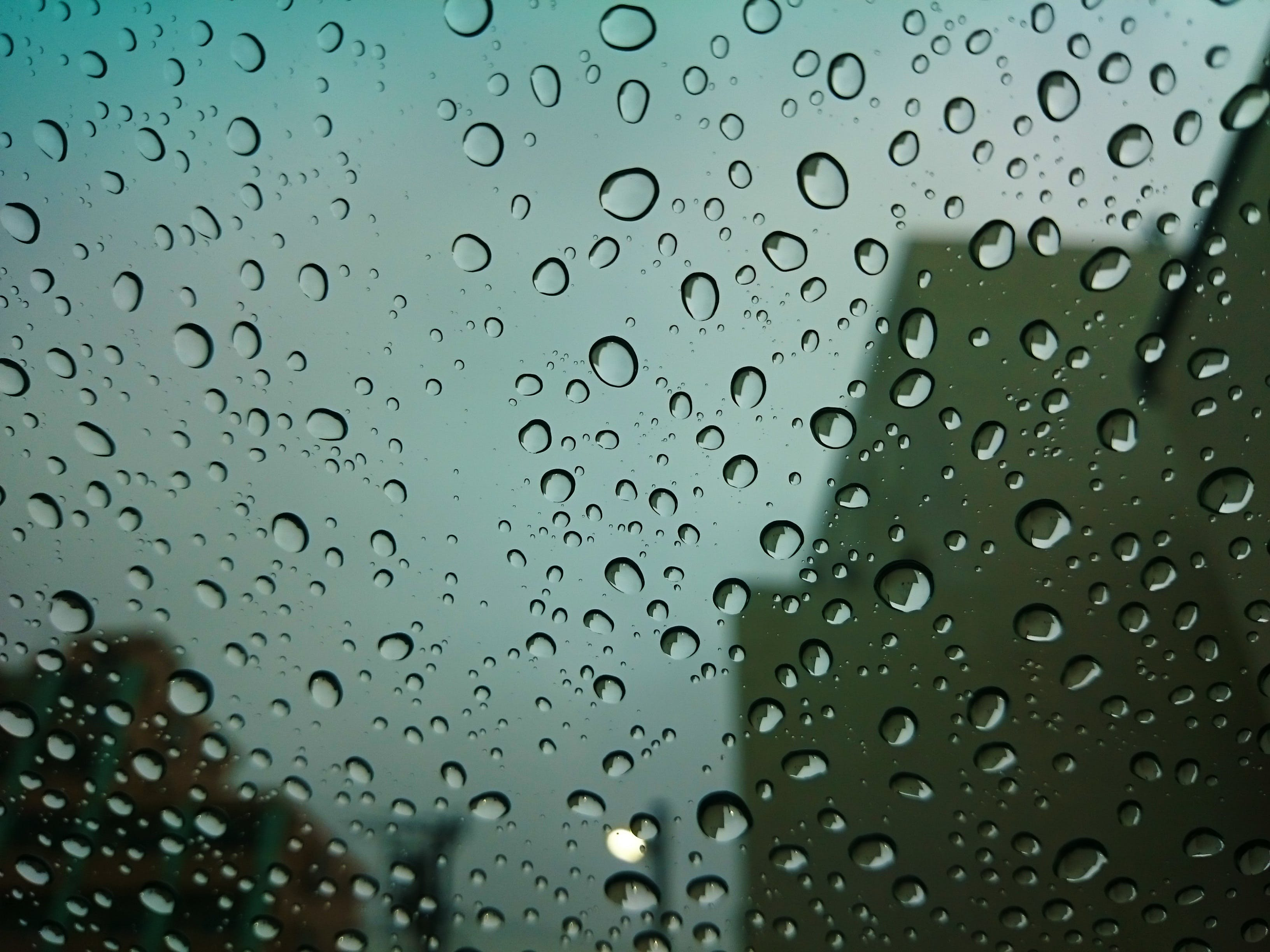 Free stock photo of water, glass, rainy, blur