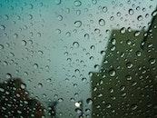 water, glass, rainy