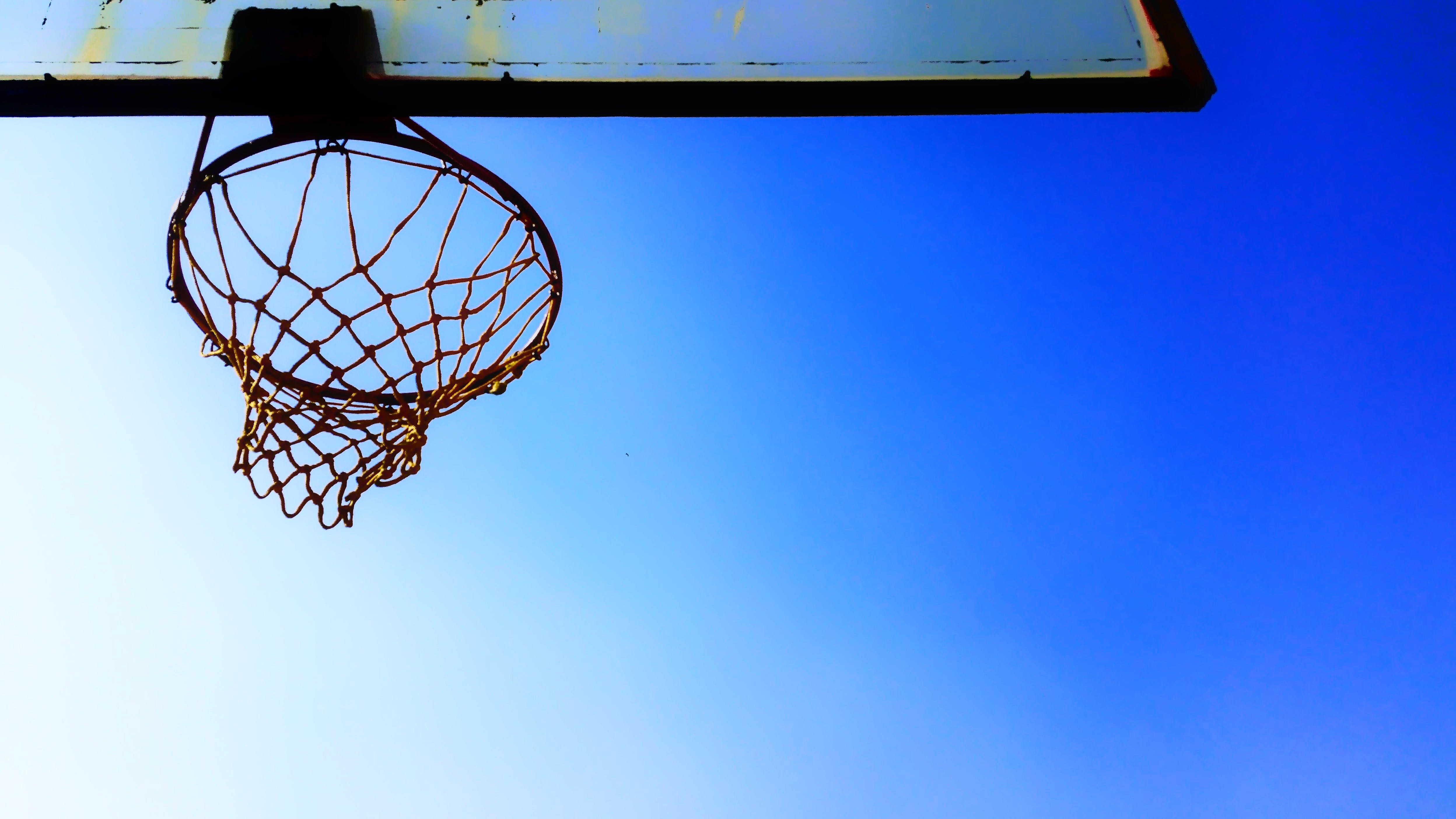 Low Angle Photography of Basketball Ring
