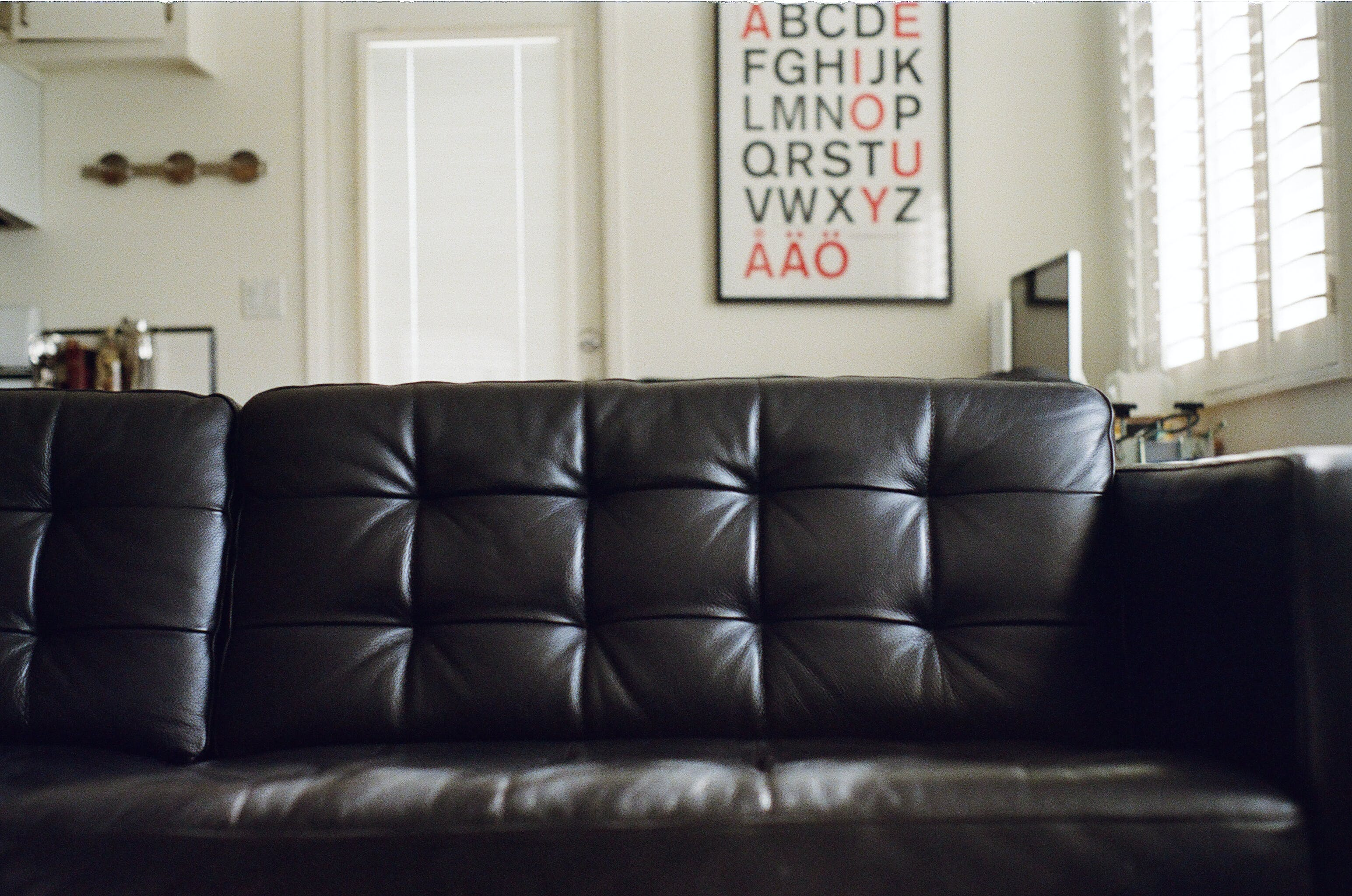 Vacant Black Couch