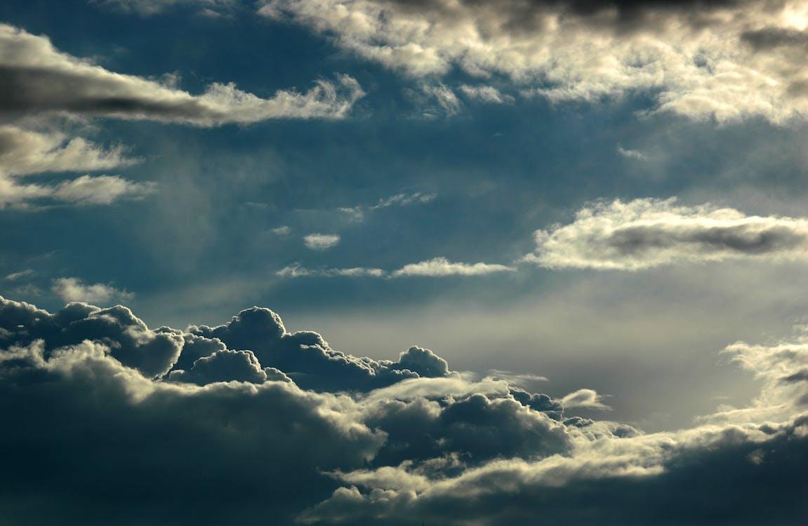 atmosphère, aube, bleu