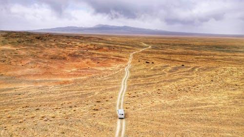 White Van on Desert