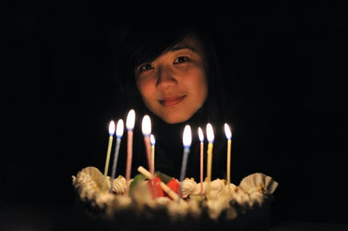 Photo of Woman Near Lighted Candles