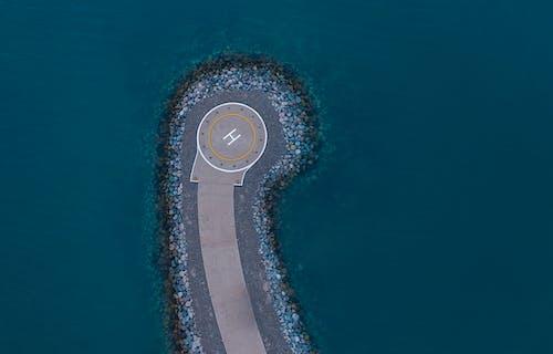 Бесплатное стоковое фото с h2o, Аэрофотосъемка, береговая линия, вертолетной