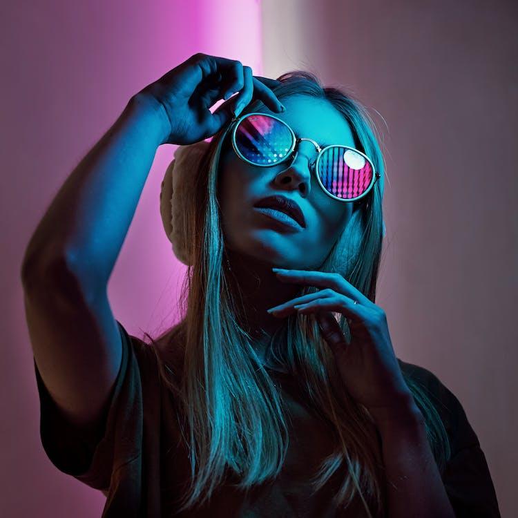 Women's White Framed Sunglasses
