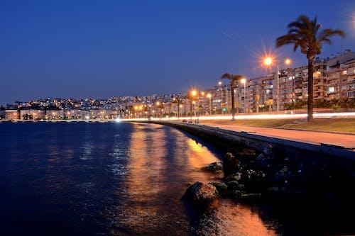 alacakaranlık, deniz, gece içeren Ücretsiz stok fotoğraf