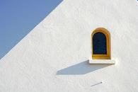 sky, blue, wall