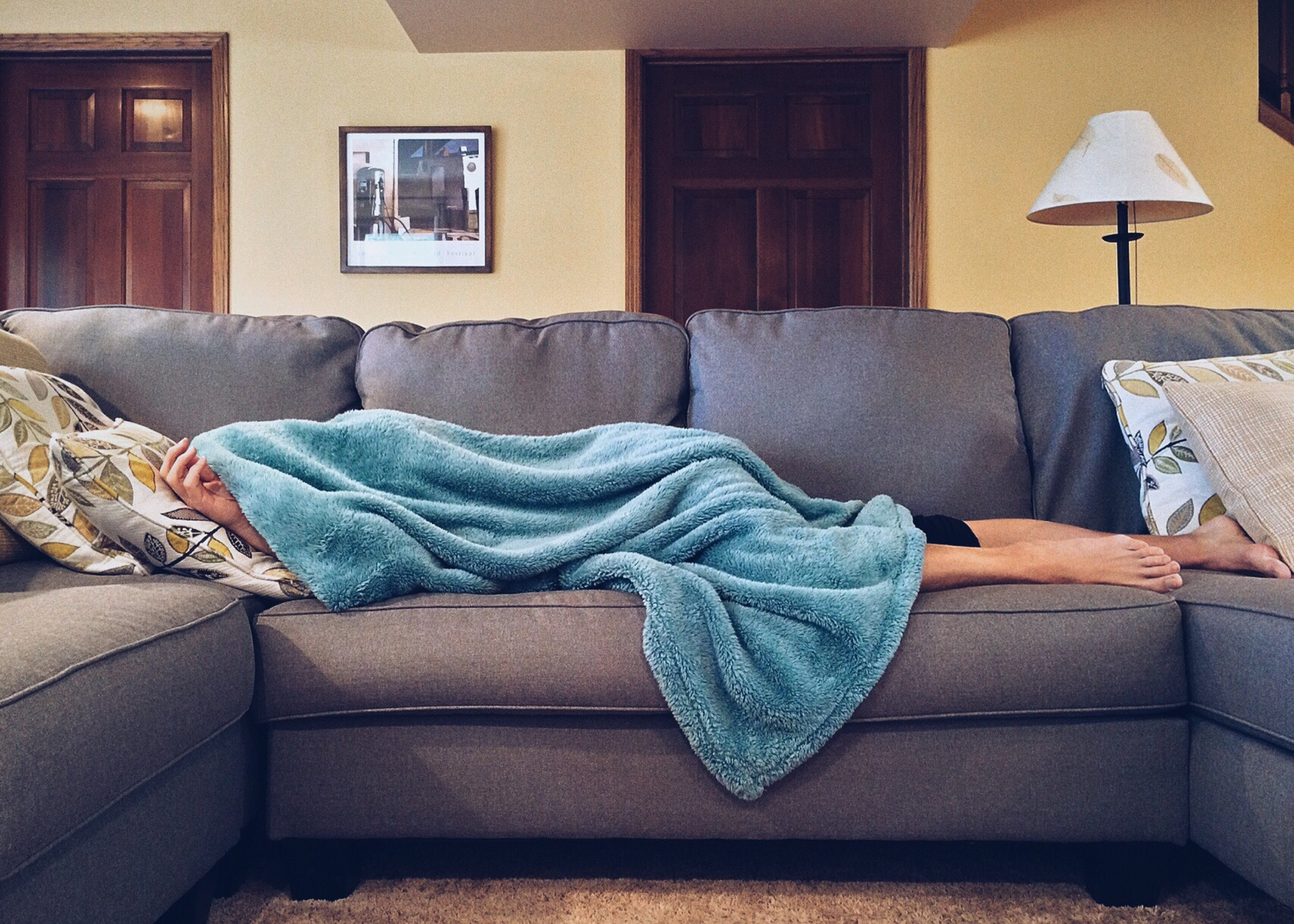 Image result for guy sleeping on couch