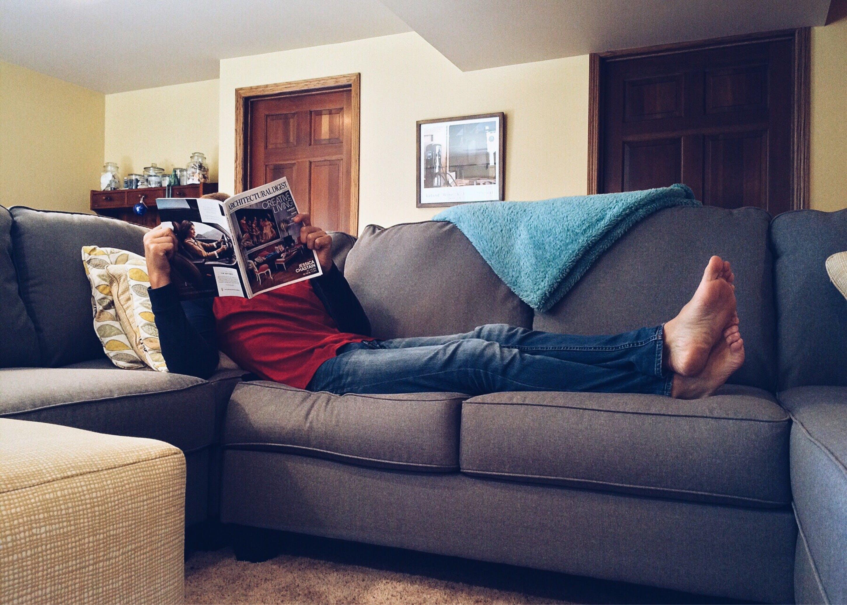 couch, drinnen, innenarchitektur