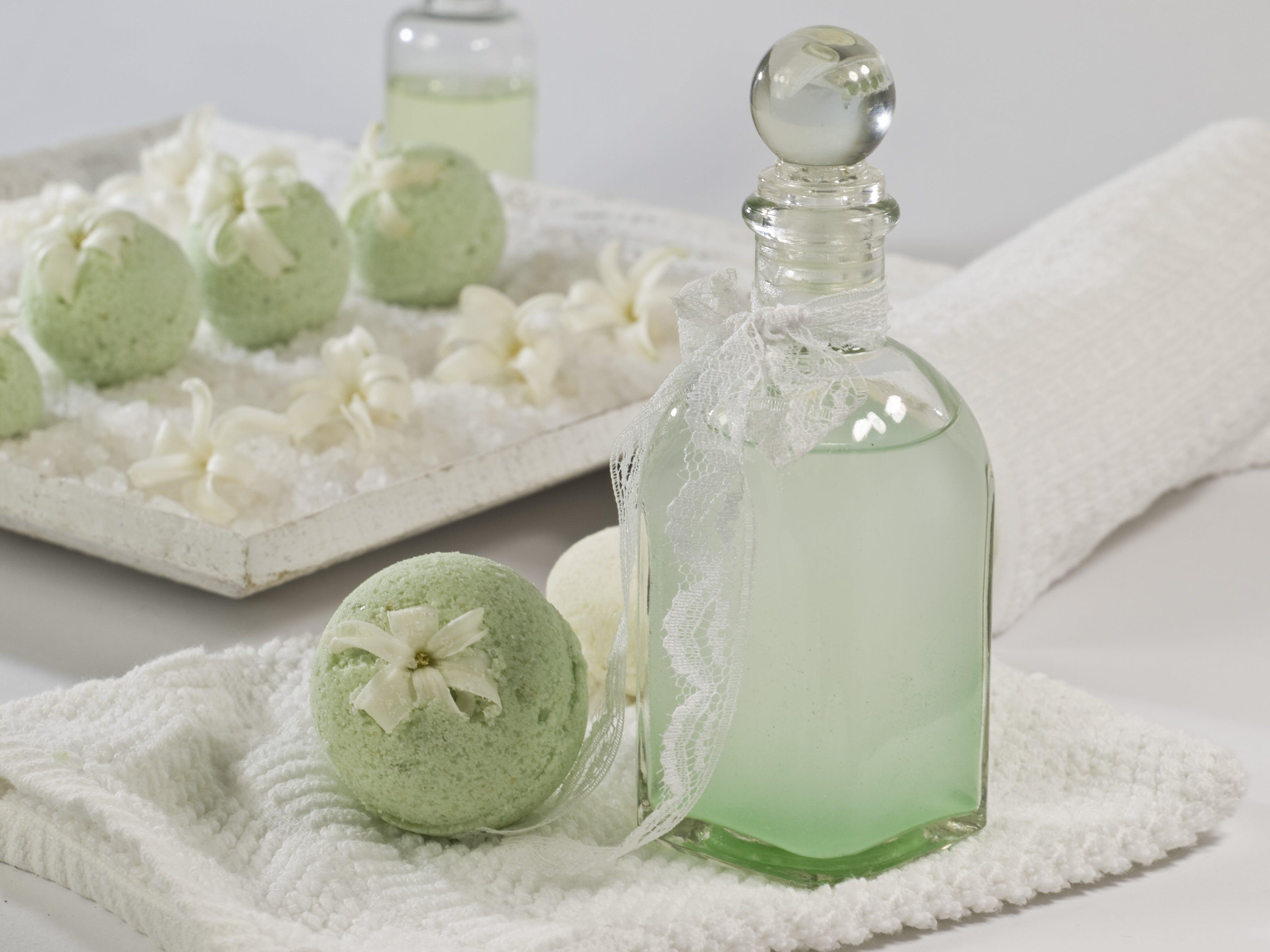 Free stock photo of bath balls, beautiful, cosmetic brush, cosmetics