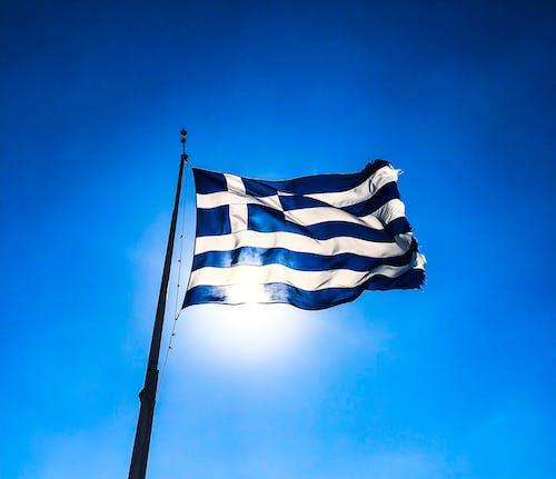 Fotos de stock gratuitas de asta de bandera, Atenas, azul, bandera