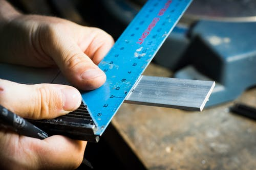 Free stock photo of aluminum, hand, hobby, measuring