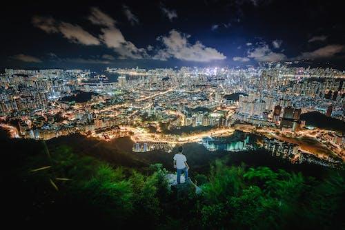 Foto d'estoc gratuïta de caminant, hong kong, vista nocturna