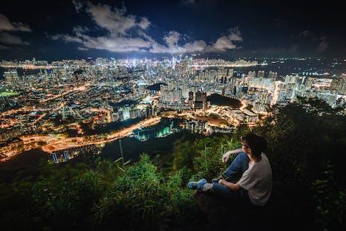 Ingyenes stockfotó ég, éjszaka, éjszakai kilátás, építészet témában