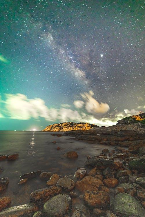 Foto d'estoc gratuïta de Costa, mar, platja, Via Làctia
