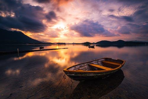 Foto d'estoc gratuïta de barca, hong kong, reflex
