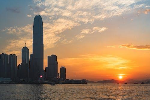 Gratis lagerfoto af hongkong, solnedgang