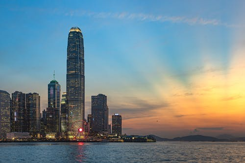 Gratis lagerfoto af hongkong, lys, solnedgang, solstråle