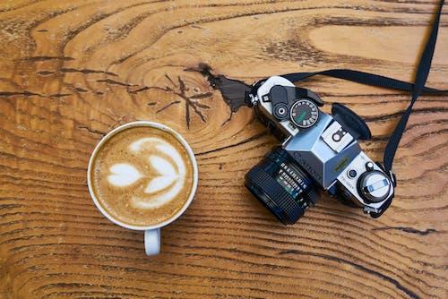 アナログ, カフェ, カメラ, コーヒーの無料の写真素材