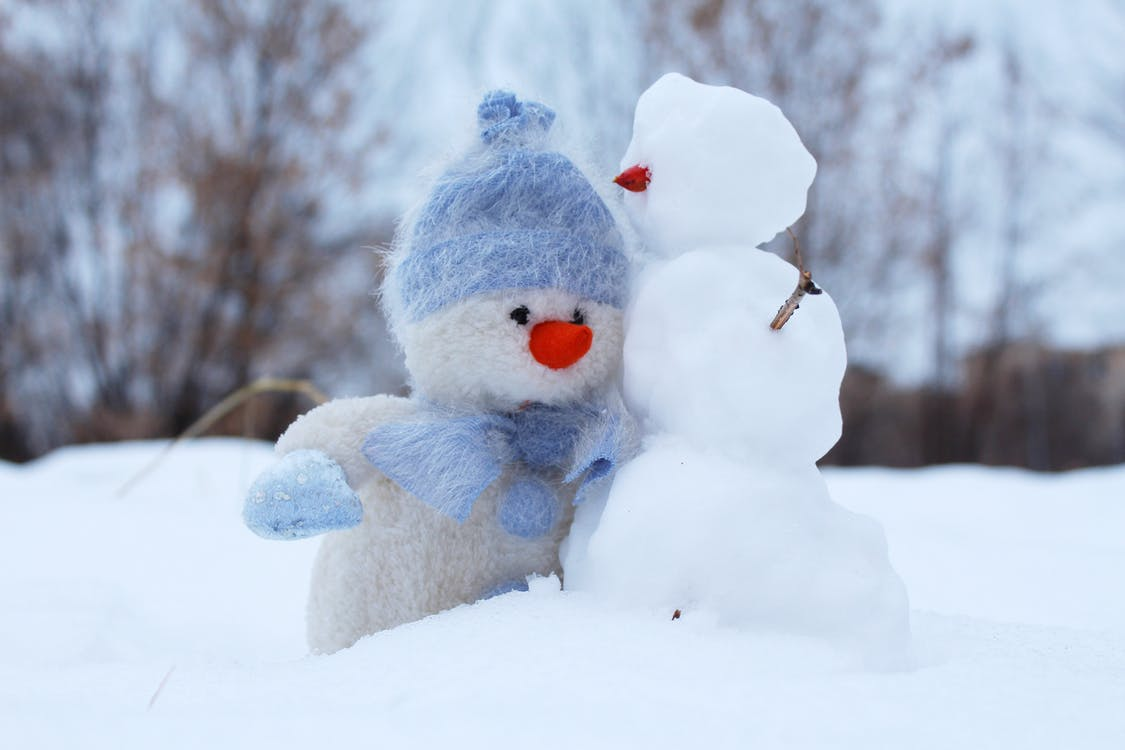 Selective Photo of Snowman Plush Toys